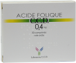 Acide folique ccd 0,4 mg, comprimé